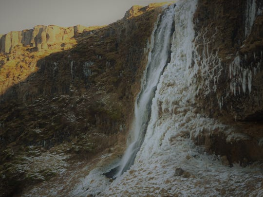 """Richard Hoben of Pineville took a recent trip to Iceland. He was able to see waterfalls. He described the water of one as being """"fresh and clean."""""""