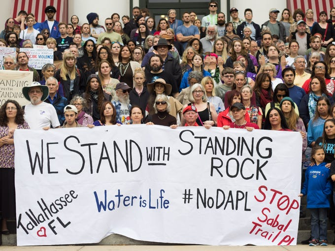 Tallahassee Stood with Standing Rock, peacefully protesting