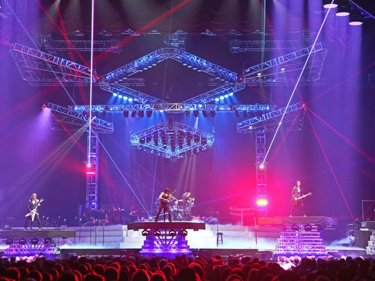 The Trans-Siberian Orchestra performing at the BMO Harris Bradley Center.