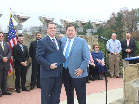 The Rev. Andy Harris and Lieutenant Gov. Billy Nungesser