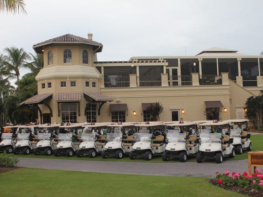 The attractive scenario at Hammock Bay Golf Club sets the scene for the 22nd annual Y golf tournament.