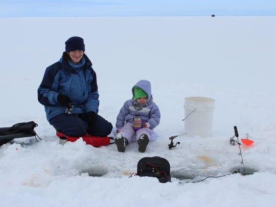 Violet Boyarski enjoys some time on the ice with her