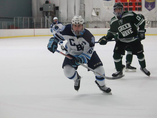 Corey Clifton (16) of CBA battled in a 3-1 loss to Delbarton.