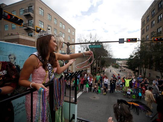 The 48th Annual Springtime Tallahassee Festival's parade marches from the Midtown neighborhood through downtown on April, 2, 2016. (1)