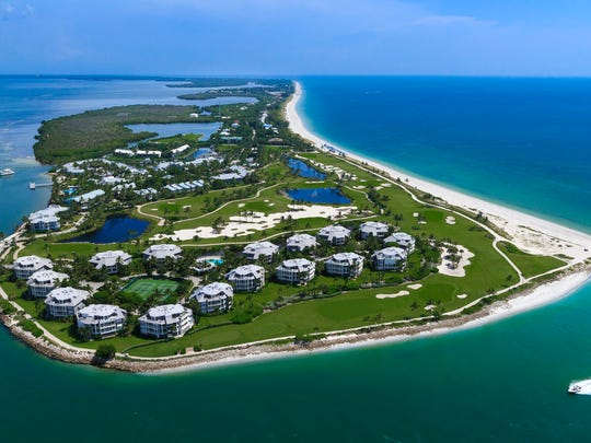 The 330-acre, 465-unit South Seas Island Resort on Captiva Island has its own trolley service and a trolley tracker app.
