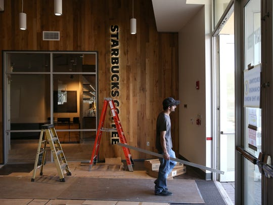 Construction on a new Starbucks in the TCC Center for Innovation on KLeman Plaza has been completed. A grand opening is planned for January 30. .