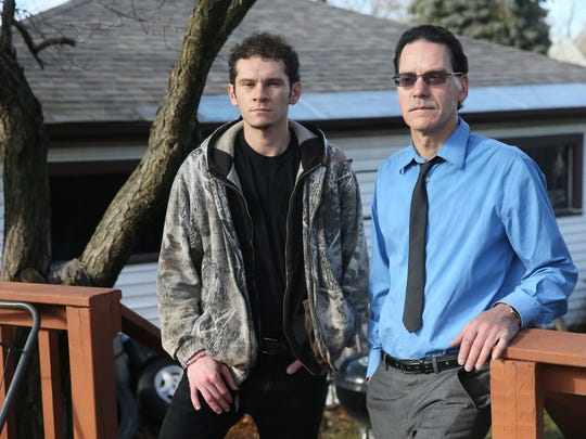 Chad Donovan, 29, (left) is the son of Steve Donovan who recently died. Steve Donovan's brother, Vince, is at the right.