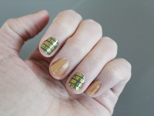Packers nail wraps from Jamberry nails, $18.