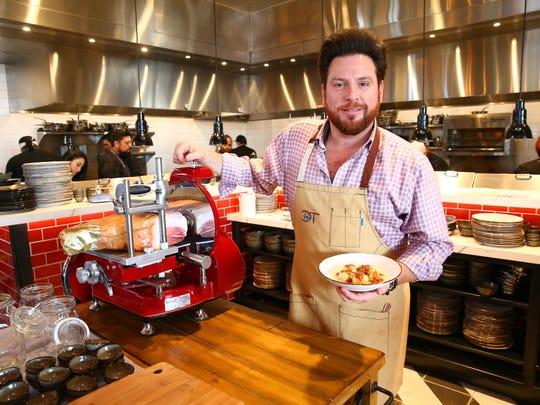 Chef Scott Conant at his new restaurant, Mora Italian
