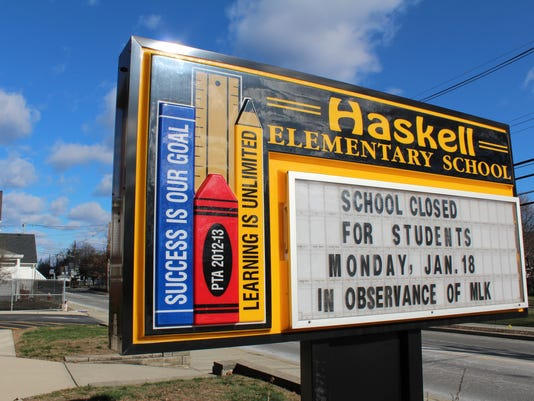 Haskell School Sign