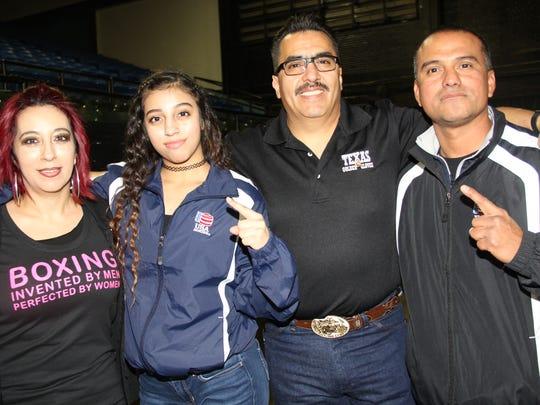 Veronica Rodriguez, left, Nayeli Rodriguez, Hector Espinoza Jr., and Joe Rodriguez Jr.