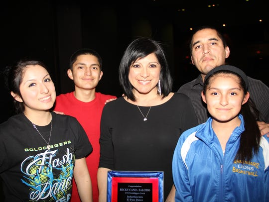 "Becky and Ismael ""Smiley"" Salcido and family."