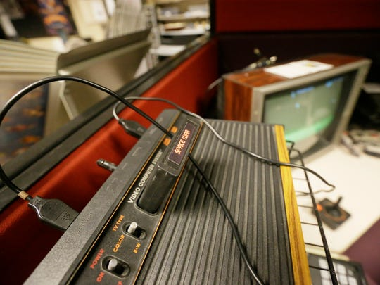 An Atari console is seen at the Computer and Video