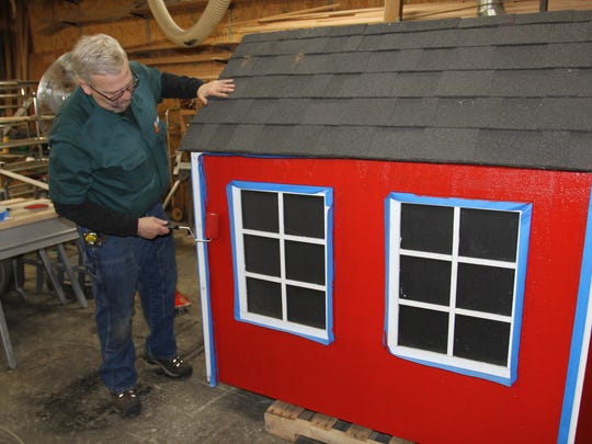 Many of the displays and other store items are built and repaired in Roth's carpentry shop.