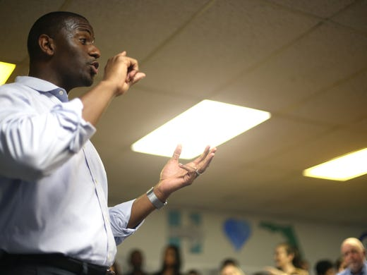 Mayor Andrew Gillum speaks at the opening of a [19659023] Buy photo </span></p> </div></div> <div class=