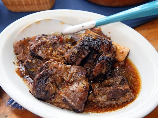 Braised Short Ribs are made in a slow cooker.