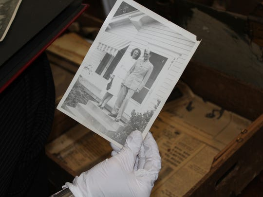 Artifacts found within an army trunk in a Shreveport