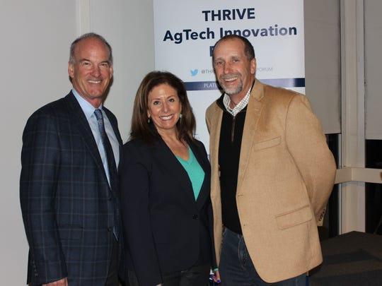 From left, Bruce Taylor, Karen Caplan and Driscoll's CEO Kevin Murphy at the THRIVE Forum