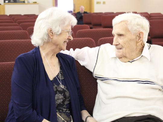 Pete and Audrey Thacker talk about how they first met and found each other again 50 years later at Faith Chapel in Mansfield. They were married earlier this month in the church, which is where they first met.