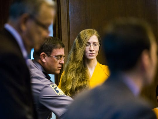 Lisa Troemner appears at the Collier County Courthouse for a hearing on Monday, Feb. 13, 2017. Troemner is accused of fatally stabbing her boyfriend. Her trial begins next week.