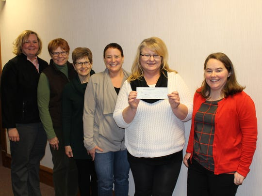 The Sheboygan Service Club presents a check to Rainbow Kids. Pictured, from left to right: Mary Komoroski, Margaret Matter, Beth Rauwerdink, Andrea Igowsky (SSC), Michele Hemb, and Mary Lovelien (SSC)