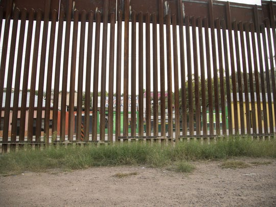 The U.S.-Mexico border fence in Nogales, Arizona.