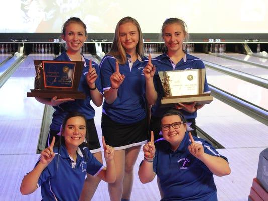 Warren Hills girls bowling