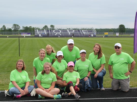 Point Beach team members helped set up for the Two Rivers Relay for Life.
