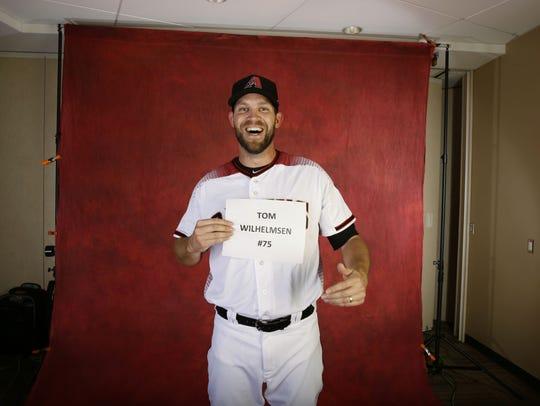 The Diamondbacks' Tom Wilhelmsen poses during Photo