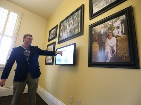 Jonathan Grandage, executive director of the Grove Museum, is leading an online architectural tour of the museum on Friday.