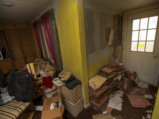 Longtime Toms River resident Larry Hecker's condemned home.