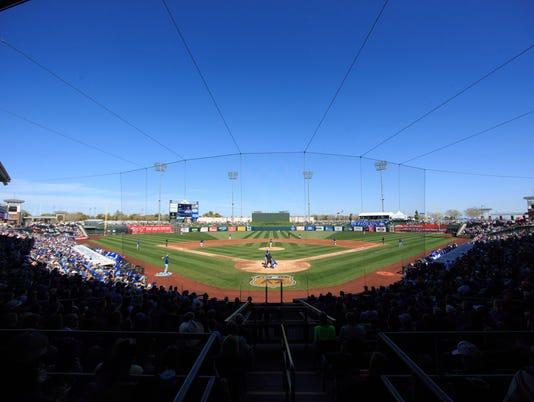 MLB: Spring Training-Kansas City Royals at Texas Rangers