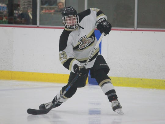 Eric Dahl scored twice in Point Boro's 4-3 shootout loss to Middletown North.