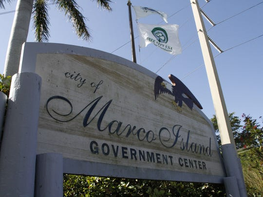 City of Marco Island Government Center sign.