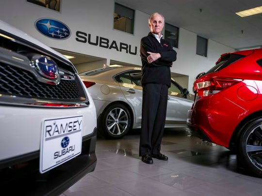 Ramsey Subaru dealership president Tom Carey Wednesday March 1, 2017, in the showroom. Subaru is one of the car brands that saw increase in auto sales in 2016, while other makers struggled last year.