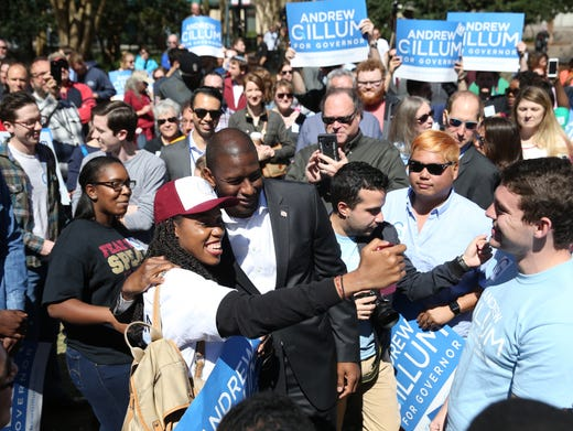 Mayor Andrew Gillum holds a campaign event in Kleman