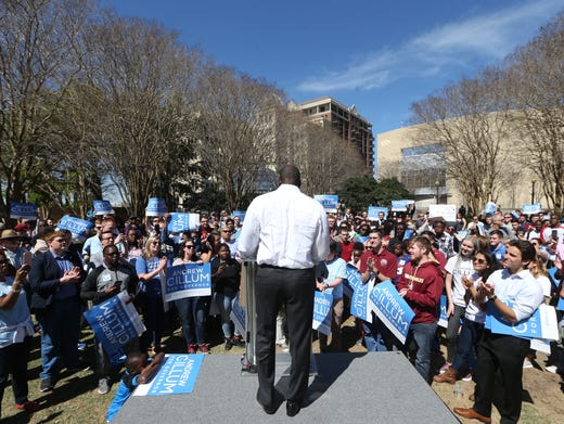 Mayor Andrew Gillum holds a campaign meeting in Kleman
