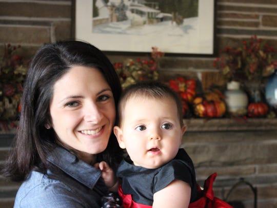 Megan Villanella with her daughter Isabelle.