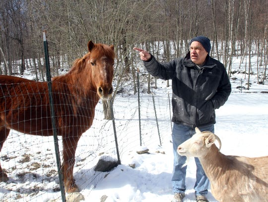 Bill Crain, co-founder of Safe Haven Farm Sanctuary,