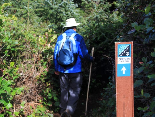 Dan Hilburn hikes the Oregon Coast Trail.