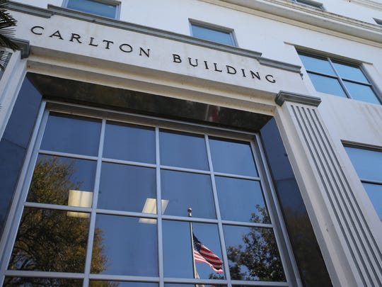 "The Carlton building, marked for potential demolition as a ""disposition candidate"" under a state consultant's plan to refigure the downtown footprint."