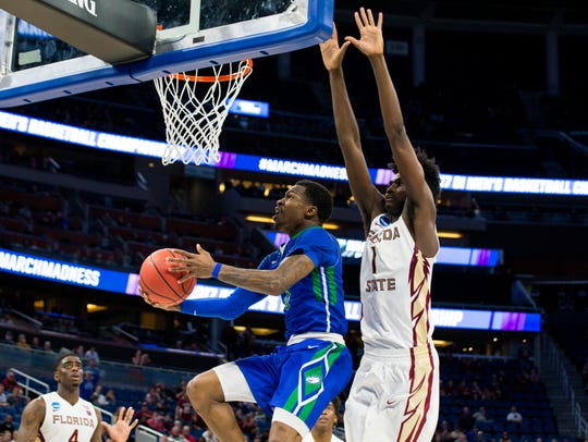 Florida Gulf Coast University junior Brandon Goodwin,
