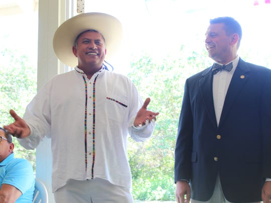 Juan Romero, a founder of the Mayor's Cup Soccer Tournament, and Bonita Springs Mayor Peter Simmons led presentations at the gathering held Saturday.