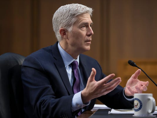 EPA USA SUPREME COURT GORSUCH HEARING POL GOVERNMENT USA DC