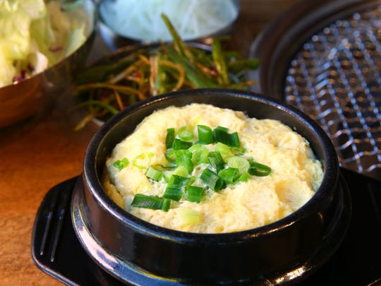 Steamed Egg at Sizzle Korean BBQ on March 20, 2017
