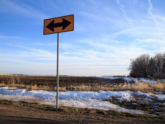 The site of the proposed pork-processing plant on Mason City's southwest side Monday, Feb. 13, 2017.