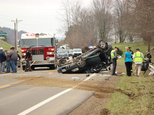 One woman was seriously injured in a single-vehicle rollover on Ohio 95 near Perrysville on Tuesday. The woman was transported with serious injuries, but was listed in stable condition at OhioHealth Mansfield Hospital.
