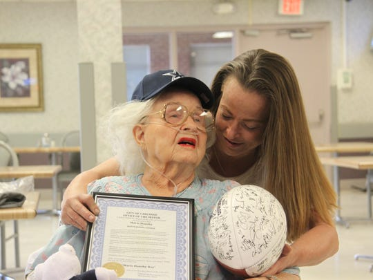 Samantha Larsen and her grandmother Marie Dansby have a close bond. Larsen said she plans to spend the next month celebrating her grandmother's birthday.