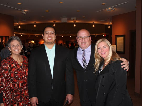 JFS Executive Director Maureen Forman, Union Bank sponsors Leonard Macias, Bob and Christy Caruso.