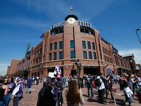 Fans make their way toCoors Field for the 2015 season